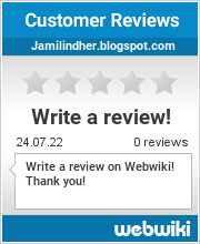 Reviews of jamilindher.blogspot.com