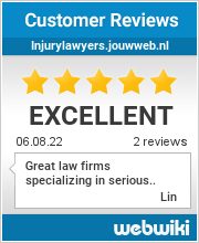 Reviews of injurylawyers.jouwweb.nl