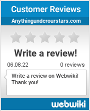 Reviews of anythingunderourstars.com