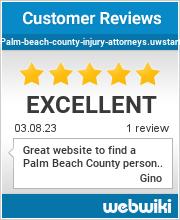 Reviews of palm-beach-county-injury-attorneys.uwstart.nl