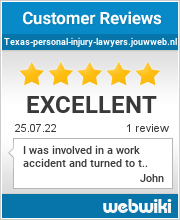 Reviews of texas-personal-injury-lawyers.jouwweb.nl