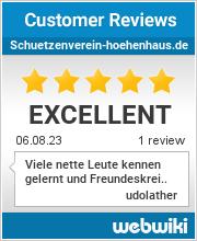 Reviews of schuetzenverein-hoehenhaus.de