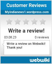 Reviews of myindianews1.wordpress.com