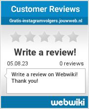 Reviews of gratis-instagramvolgers.jouwweb.nl