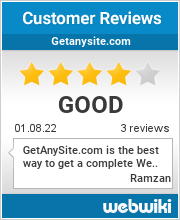 Reviews of getanysite.com