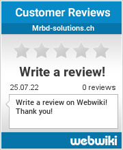 Reviews of mrbd-solutions.ch