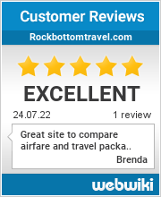 Reviews of rockbottomtravel.com