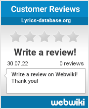 Reviews of lyrics-database.org