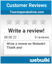Reviews of toursinperubolivia.com