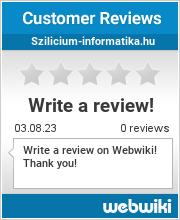 Reviews of szilicium-informatika.hu