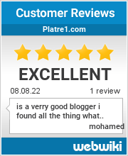 Reviews of platre1.com