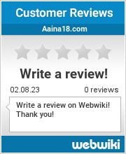Reviews of aaina18.com