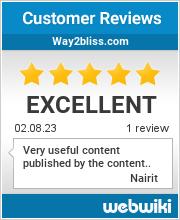 Reviews of way2bliss.com
