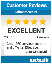Reviews of miltonmedia.rs